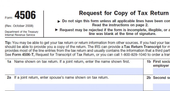 irs form 4506-t download