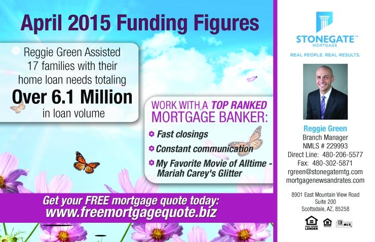 April 2015 Funding Figures - Reggie Green
