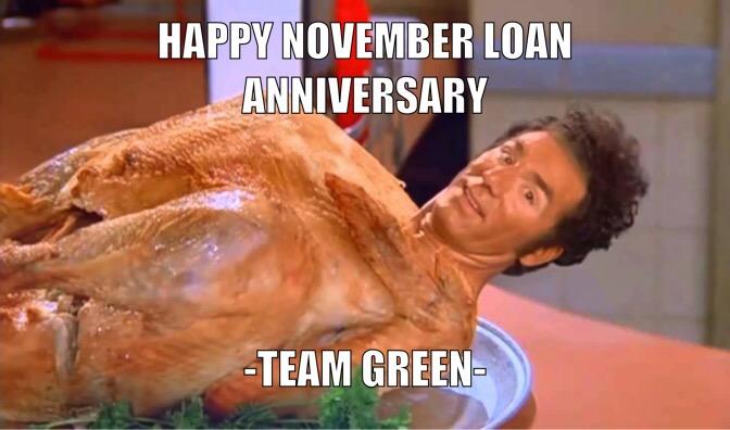 November Loan Anniversary
