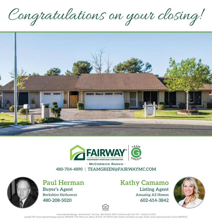 Magram – Congratulations on your closing